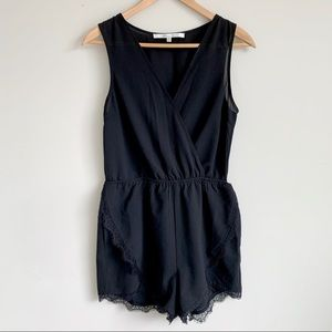 Lovers + Friends Romper with Lace Trim